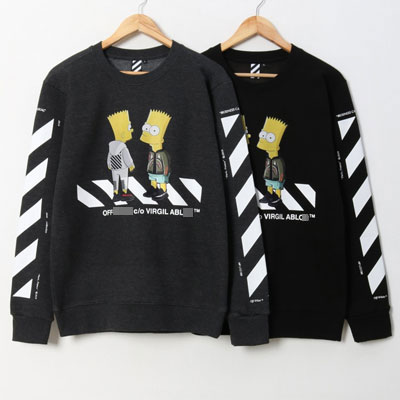[UNISEX] CROSSING TWO SIMSON FLEECE SWEATSHIRTS(2color 4size)