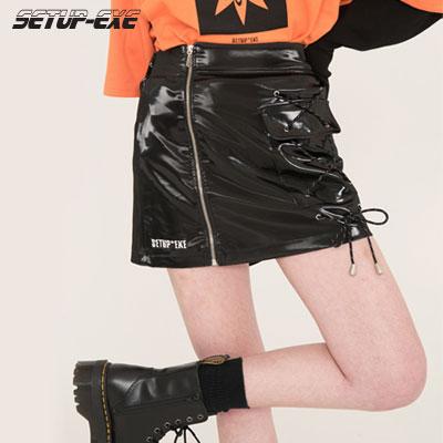 【SETUP-EXE】SIDE POCKET SKIRT VER.2 - BLACK