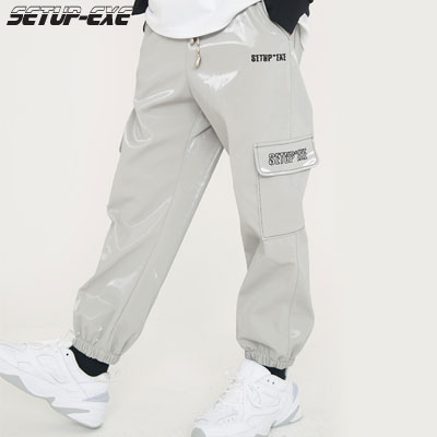 【SETUP-EXE】Side pocket jogger Pants - Grey