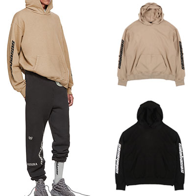 [UNISEX] SLEEVE LOGO POINT PULLOVER HOODIE(2color)