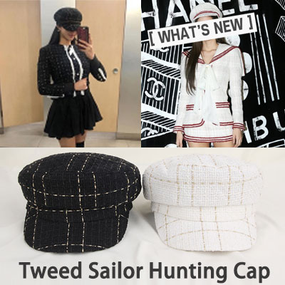 [UNISEX] blackpink jennie st.TWEED SAILOR HUNTING CAP(2color)