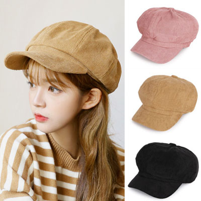 [UNISEX] CORDUROY NEWS BOY CAP(3color)