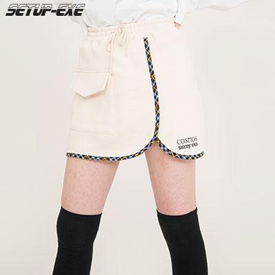 【SETUP-EXE】Check Skirt - Cream