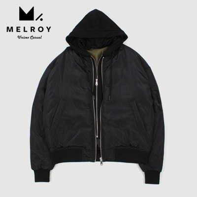 【MELROY】DUCK DOWN HOOD MA-1 JACKET
