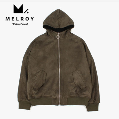 【MELROY】SUEDE ZIPUP HOOD JACKET(2color)