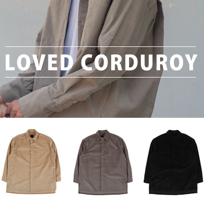 [UNISEX] OVERSIZE BIG POCKET CORDUROY(2color)