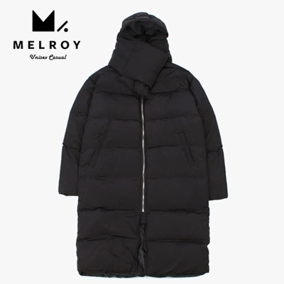 【MELROY】MUFFLER LONG DOWN JACKET (2color)/DUCK DOWN 100%