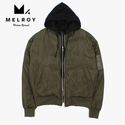 【MELROY】DUCK DOWN HOOD MA-1 JACKET (2color)