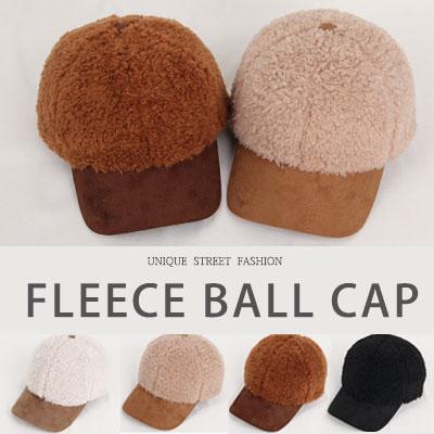 [UNISEX] FLEECE BALL CAP(4color)