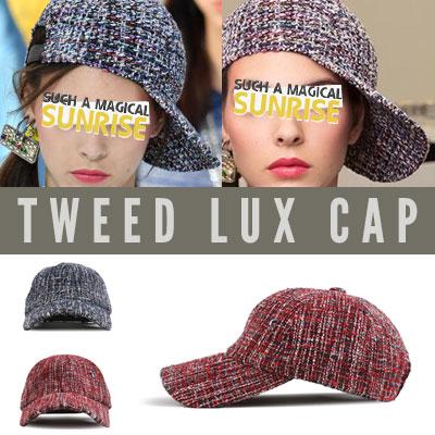 [UNISEX] TWEED LUX BALL CAP (2color)