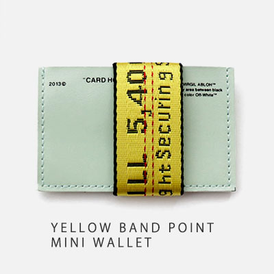YELLOW BAND POINT MINI CARD WALLET