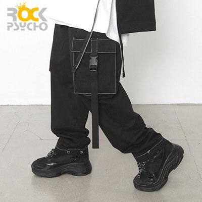【ROCK PSYCHO】BLACK CARGO PANTS