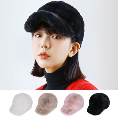 [UNISEX] FUR BALL CAP(4color)