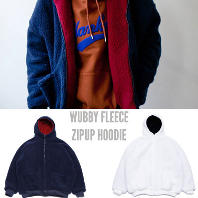 [UNISEX] WUBBY FLEECE ZIPUP HOODIE (2color)