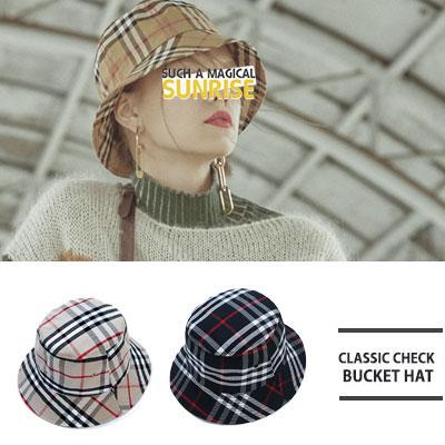[UNISEX] CLASSIC CHECK BUCKT HAT(2color)
