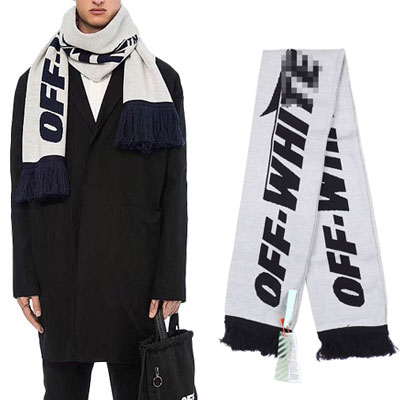 [UNISEX] SIMPLE BIG LOGO MUFFLER -white