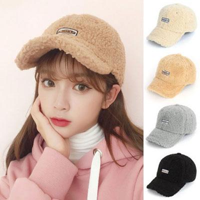 [UNISEX] TEDDY BEAR FLEECE BALL CAP(4color)