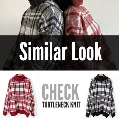 [UNISEX] SIMILAR LOOK TURTLENECK KNIT(2color)