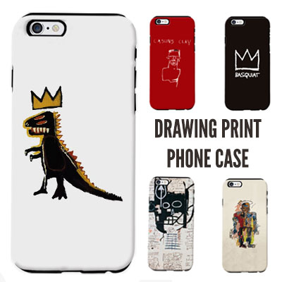 DRAWING PRINT PHONE CASE (5color)