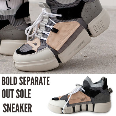 [25.0 ~ 28.0cm] BOLD SEPARATE OUT SOLE SNEAKER