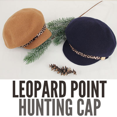 [UNISEX] LEOPARD POINT HUNTING CAP(6color)