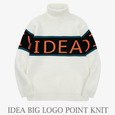 [UNISEX] IDEA BIG LOGO POINT KNIT (2color)