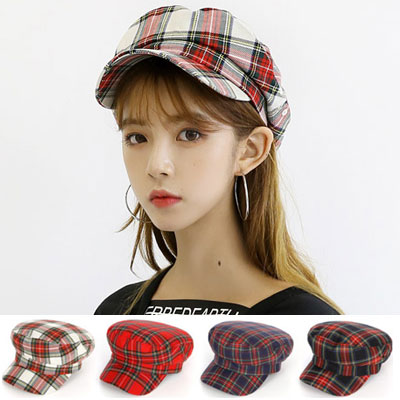 [UNISEX] TATAN CHECK HUNNTING CAP (4color)