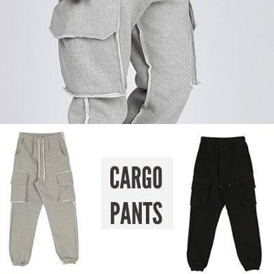 [UNISEX] CARGO PANTS (2color 2size)