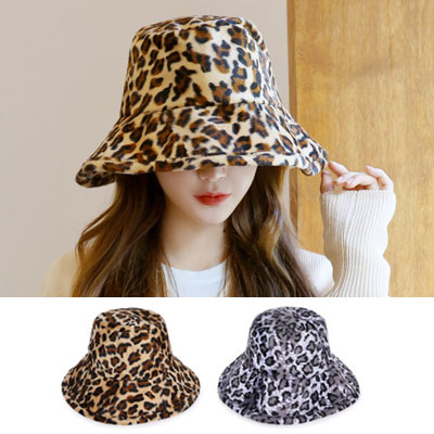 [UNISEX] OVERSIZE LEOPARD BUCKET HAT(2color)