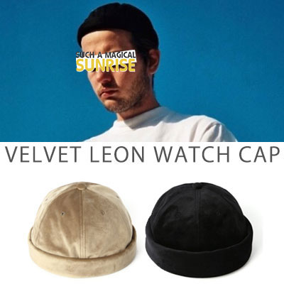 [UNISEX] VELVET LEON WATCH CAP (2color)