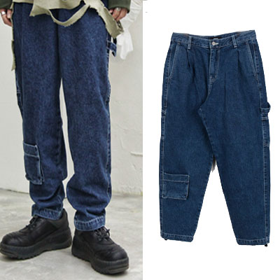 [UNISEX] MULTI POCKET WIDE JEANS (2size)