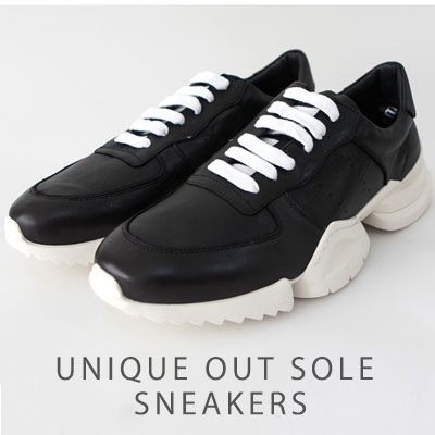 [25.5 ~ 28.0cm] UNIQUE OUT SOLE SNEAKERS
