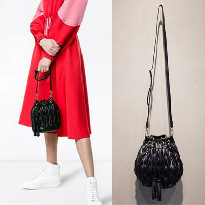 WRINKLED BUCKET BAG (2color)