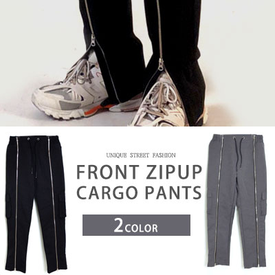 [UNISEX] FRONT ZIPUP CARGO PANTS (2color)