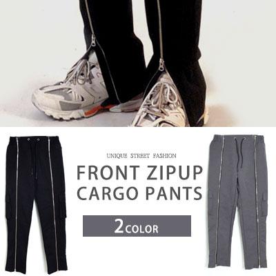 [UNISEX] FRONT ZIPUP CARGO PANTS (2color)