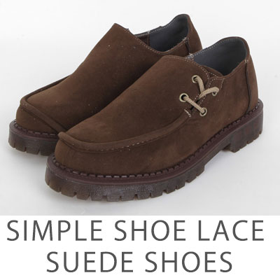 [25.0 ~ 28.0] SIMPLE SHOES LACE SUEDE SHOES (2color)