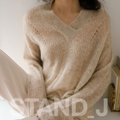 [STAND_J] COZY V-NECK SWEATER (4color)