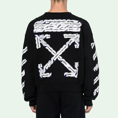 [裏起毛][UNISEX] AIRPORT BAGGAGE TAPE SWEATSHIRTS (2color)
