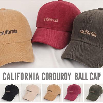 [UNISEX] CALIFORNIA CORDUROY BALL CAP(5color)