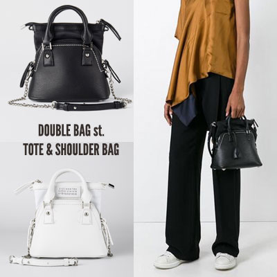 [S-size] DOUBLE BAG st. TOTE & SHOULDER BAG(2color)
