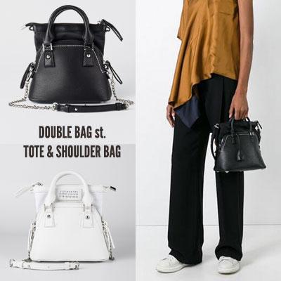 [S-size] DOUBLE BAG st. TOTE & SHOULDER BAG(2color)