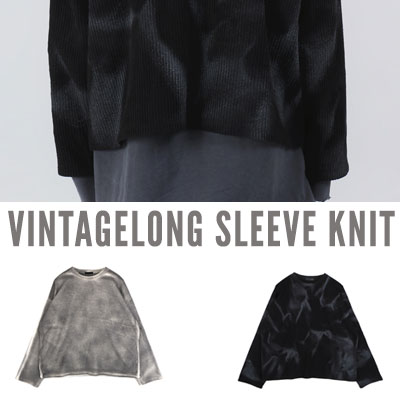 [UNISEX] VINTAGE SPRAY KNIT (2color)