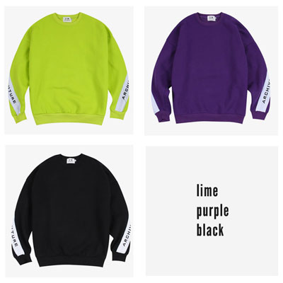 [UNISEX] ARCH SLEEVE LOGO POINT SWEATSHIRTS(3color)