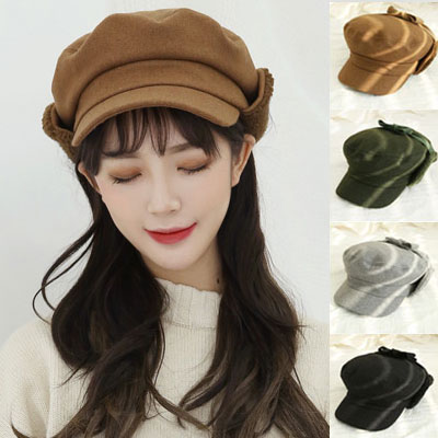 [UNISEX] Cute earmuffs peak cap (4color)