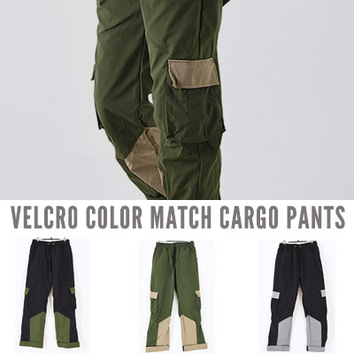 [UNISEX] VELCRO COLOR MATCH CARGO PATNS(3color)