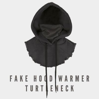 [UNISEX] FAKE HOOD WARMER TURTLENECK (2color)
