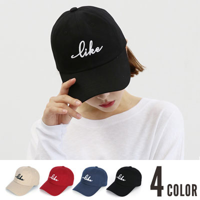 [UNISEX] LIKE LOGO POINT BALL CAP(4color)