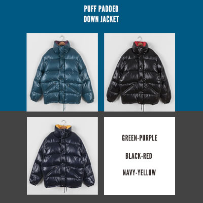 [UNISEX] SHINING PUFF PADDED DOWN JACKET (3color)