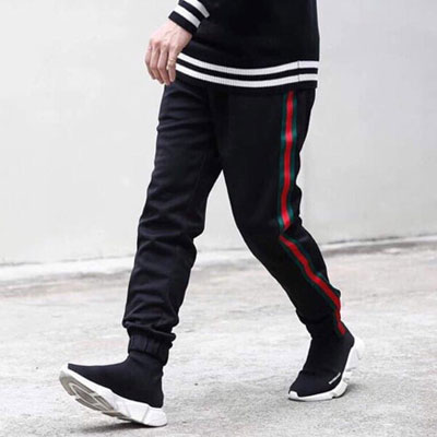 [UNISEX] SIDE GREEN RED TAPE JOGGER PANTS