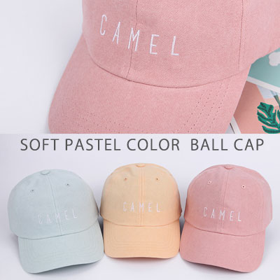 [UNISEX] SOFT PASTEL COLOR BALL CAP(5color)